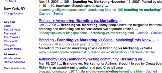 Branding vs. Marketing: In case you missed that lecture
